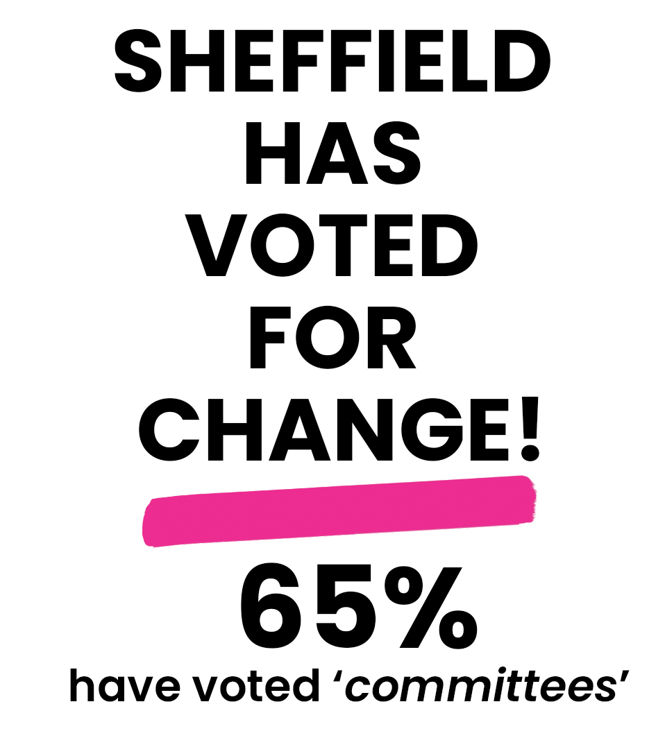 Vote for Change May 6th 2021 Sheffield People's Referendum #SHEFFREF21